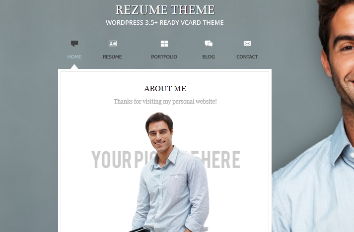 rezume wordpress vcard theme practical wp