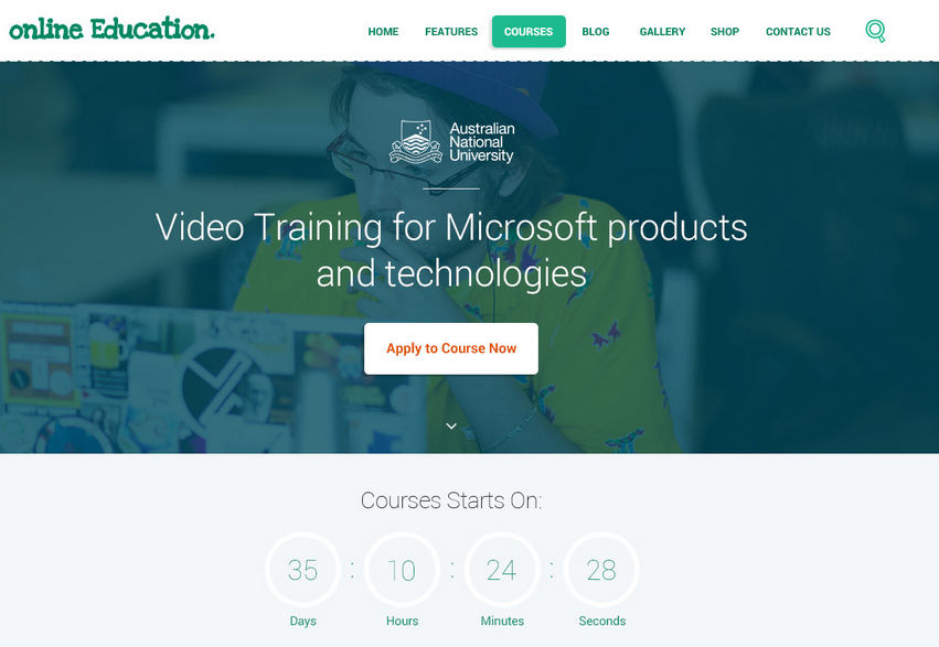 online education theme
