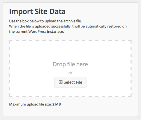 import site data